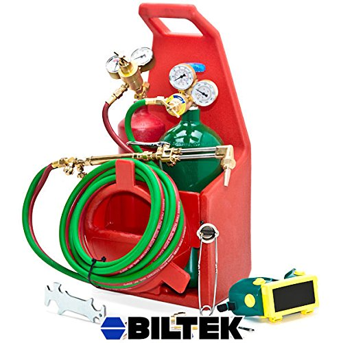 Biltek Professional Portable Torch Kit Oxygen Acetylene Oxy Welding Cutting Victor-Style Tank (Oxy Acetylene Tanks compare prices)