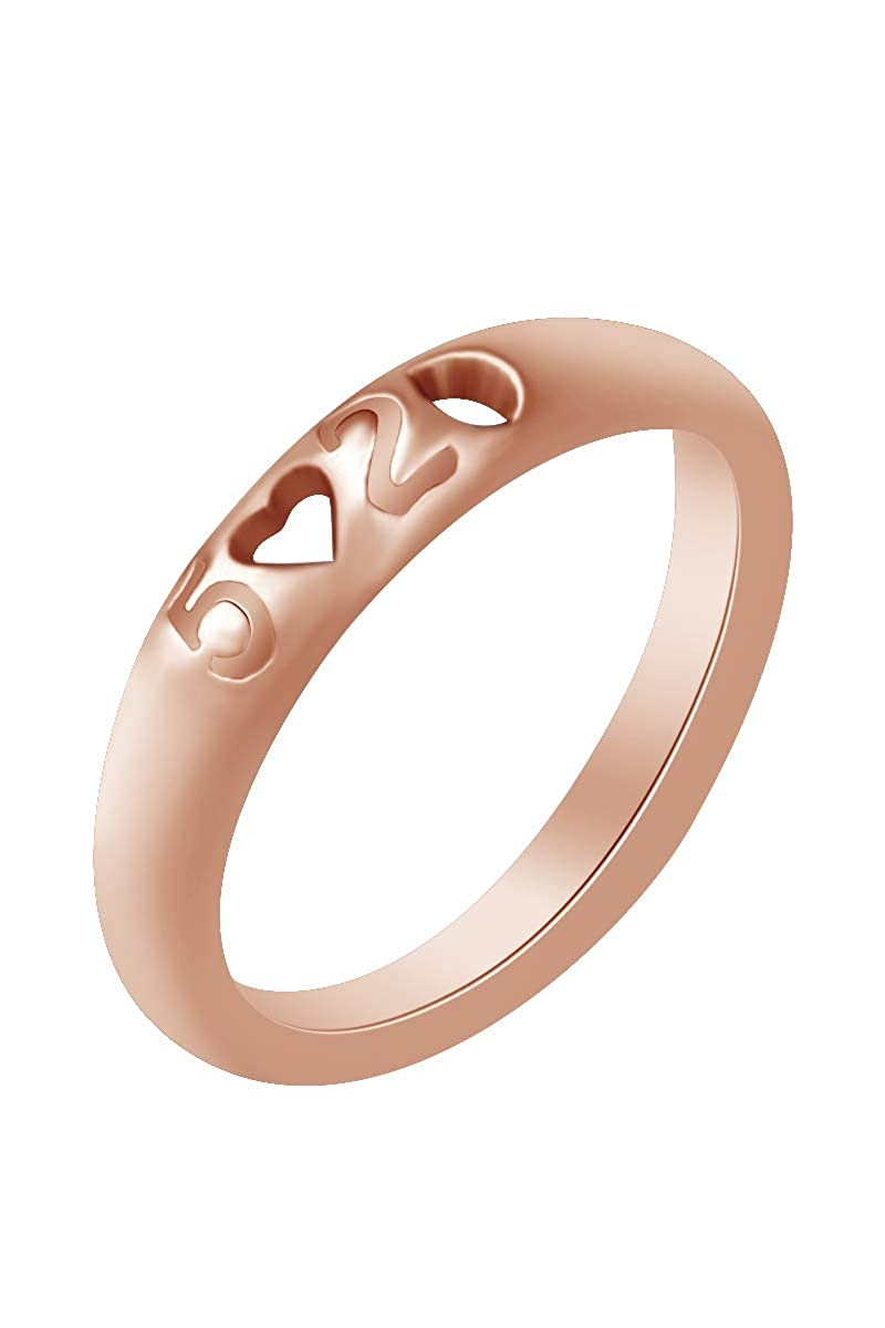 AFFY 14k Gold Over Sterling Silver I Love You Heart Shape 520 Love Ring
