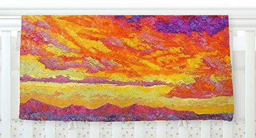 KESS InHouse Jeff Ferst View From the Foothills Orange Purple Fleece Baby Blanket 40 x 30 [並行輸入品]   B077ZVJ7V3