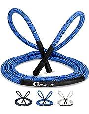 Cravallo® Skakanka I 3 metry Fatburner Speed Jumping Rope I dla dorosłych profesjonalna lina do skakania | idealna do boksowania, wytrzymałości, uprawiania sportu, MMA, hiit (o średnicy 10 mm i 14 mm)