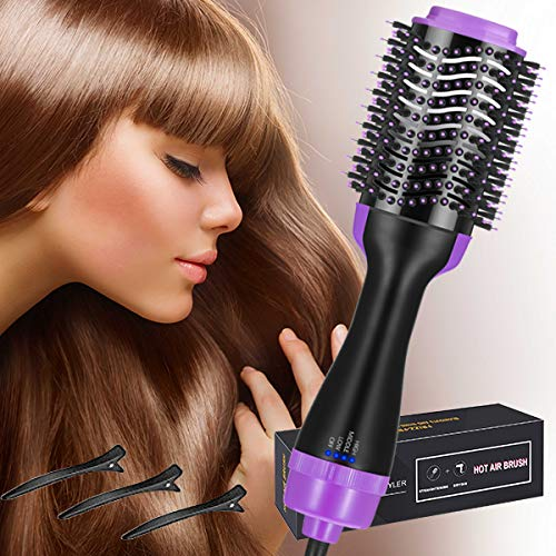 Hair Dryer Brush, Hot Air Brush, 3-in-1 Salon Styling Hair Dryer and Styler
