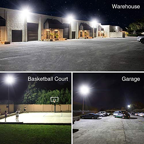 Onforu 150W LED Flood Light Outdoor, 15000lm Super Bright Security Light, IP66 Waterproof Exterior Floodlight, 5000K White Stadium Lights for Basketball Court, Parking Lots, Playground, Yard (2 Pack)