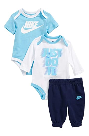ab9f3cad6d Nike New Blue Baby Boys Tracksuit Blue Grey Size 18 Months: Amazon ...
