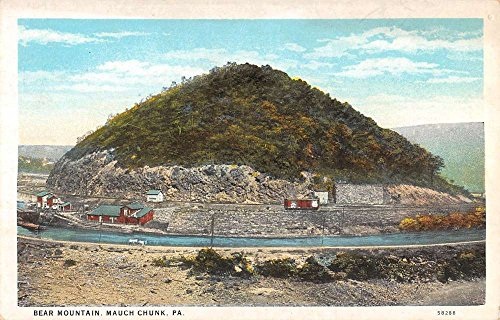 Mauch Chunk Pennsylvania Bear Mountain Railroad Scenic Antique Postcard (Railroad Bear)