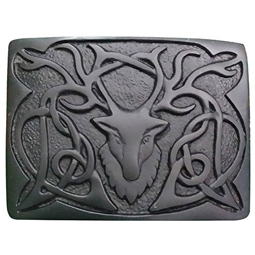 AAR Scottish Kilt Belt Buckle Stag Head - 3