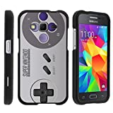 TurtleArmor | Compatible for Samsung Galaxy Core Prime Case | Prevail | Win 2 [Slim Duo] Two Piece Hard Cover Slim Snap On Case on Black – Classic Game Controller