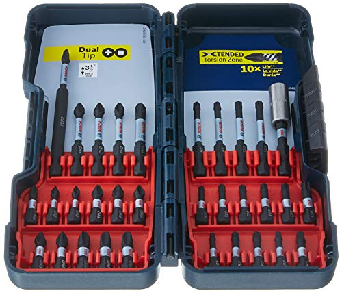 Bosch 32 Piece Impact Tough Screwdriving Bit Set SBID32 (Dewalt Impact Set Bit)
