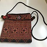 Handmade Embroidery Cotton Crossbody Shoulder Cellphone Coin Purse Bag (001)