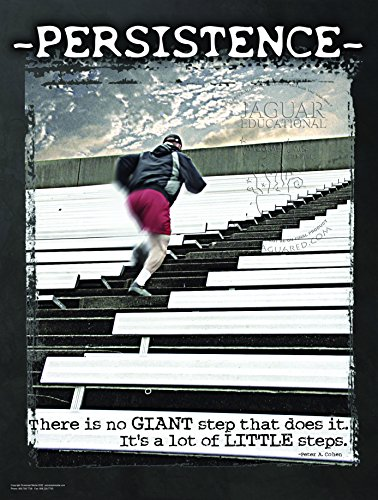 Persistence and Little Steps Character Education Laminated Motivational Inspirational Exercise Poster