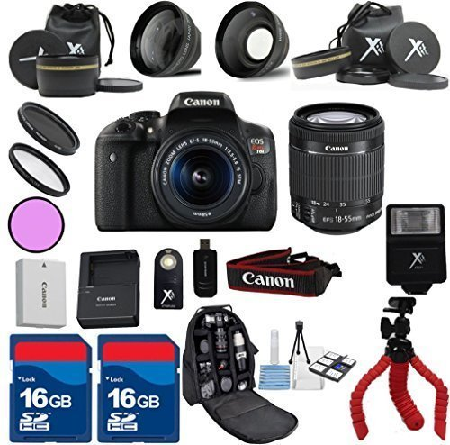 Canon T6i Camera Body with 18-55mm IS STM Lens + 22pc Kit - International Version