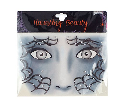 Spider Web Makeup (Morris Costumes Halloween Spider Web Eye Wear Decals)