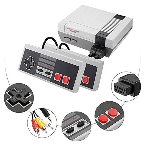 (2019 Newest!)Classic mini game console classic game console built-in 620 game video game console , AV output, 8-bit and two control handles, bring you happy childhood memories from Swvzwy