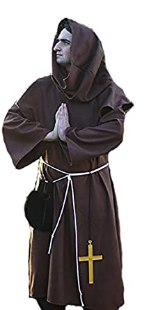 Stage Basic Medieval Hood with Mantle for Costume Re-enactment /& LARP