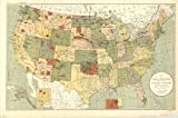 kitchen 67 reservations Historic Map   United States 1892, map showing Indian reservations   Map showing Indian reservations within the limits of the United States   Antique Vintage Reproduction 67in x 44in