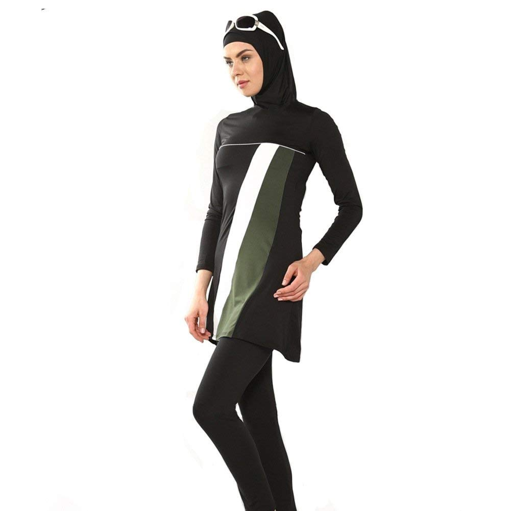 Color : As Shown, Size : One Size Oudan The Conservative Muslim Swimwear Black,6XL Beach with Three-Piece