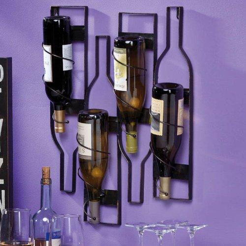 Evergreen Enterprises Metal Wall Wine Bottle Holder