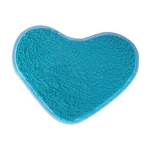Soft Heart Design Fluffy Mat Rug Bedroom Carpet Floor Cover (Bay Cocktail Table)