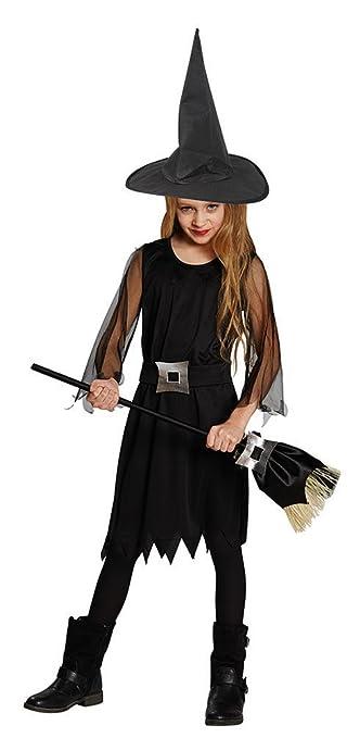 Karneval Klamotten Kostüm Hexe Schwarz Mädchen Halloween Hexe Mädchenkostüm 116