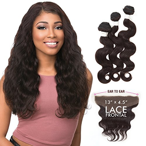 (Sensationnel Virgin Remy Human Hair Weave Bare&Natural Body Wave+13