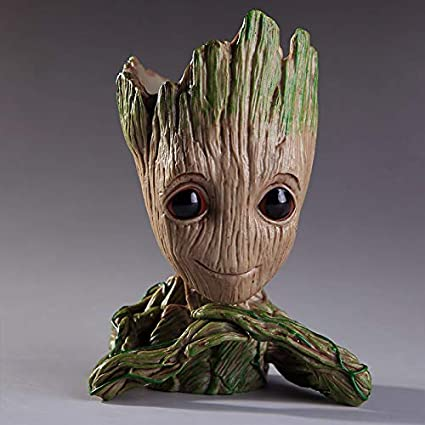 Aikes Groot Action Figures Guardians of The Galaxy Flowerpot Baby Cute Model Toy Pen Pot Best Gifts 6.3in SOSUO