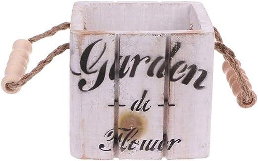 Macetas de jardín retro, cajas de madera, plazas, troncos del valle rural, exposiciones en el centro del jardín, flores de bodas, casas y decoraciones: Amazon.es: Jardín