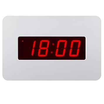 ChaoRong Reloj despertador con LED digital Reloj de pared solo para el dormitorio con batería (Blanco): Amazon.es: Juguetes y juegos