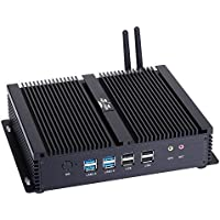 Fanless Industrial PC Mini PC I5 4200U 2 HDMI 6 COM 2 Intel Nics I4 (Barebone No RAM,No Storage)