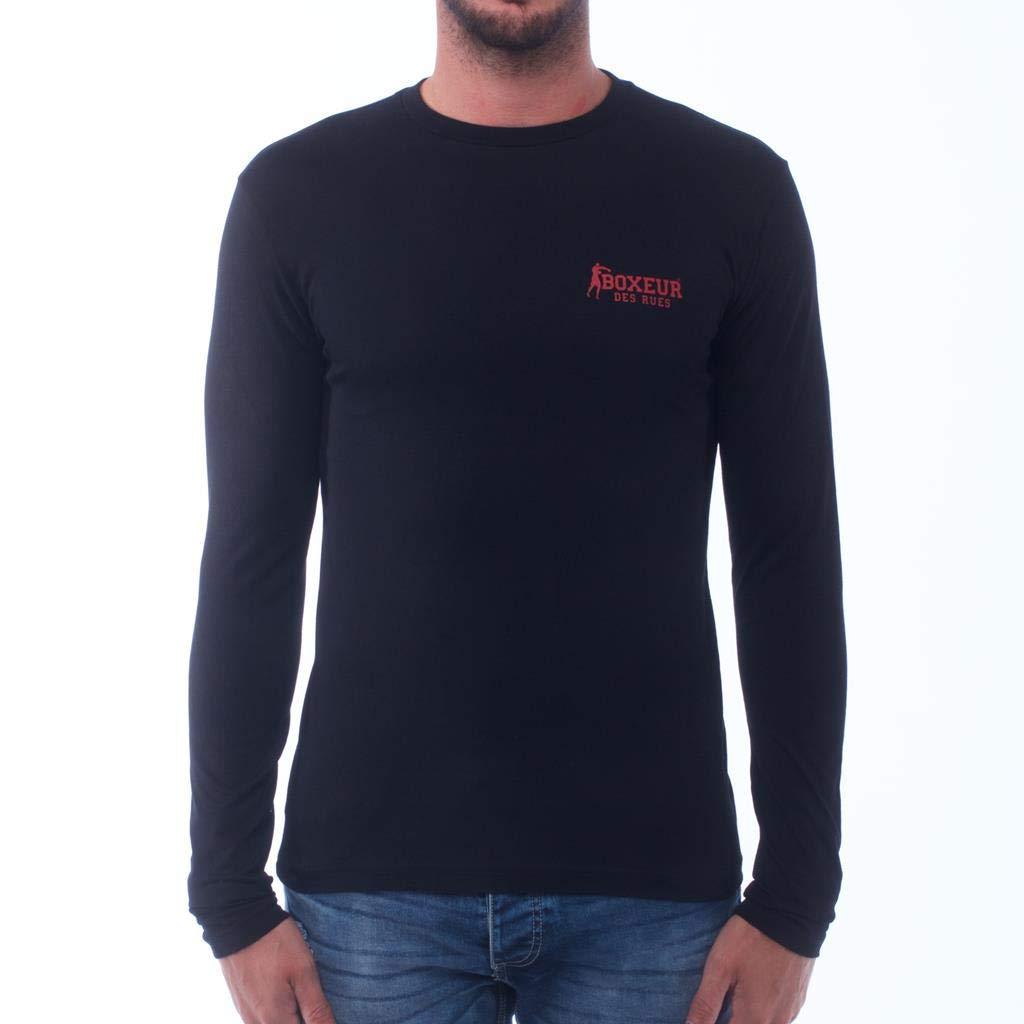 BOXEUR DES RUES T-Shirt A Manica Lunga con Logo sul Retro Uomo