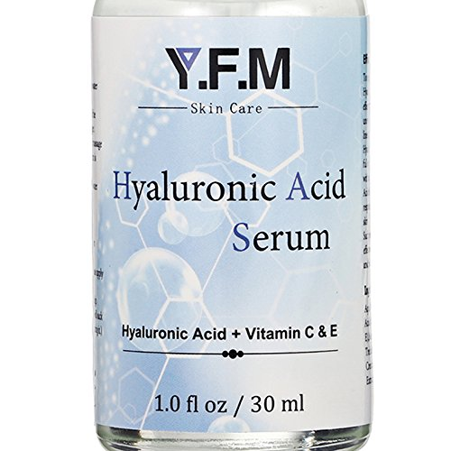 Hyaluronic Acid Serum for Face, LuckyFine Anti-Aging Serum, for Anti Wrinkle, Moisturizer for Dry Skin & Fine Lines Vitamin C Facial Serum Easy To Absorb 1.0 oz.