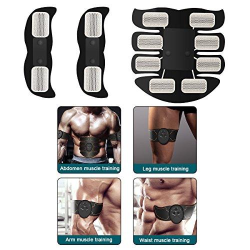 Muscle Toner, JoJoMooN Abdominal Toning Belt EMS ABS Toner Body Muscle Trainer Wireless Portable Unisex Fitness Training Gear for Abdomen/Arm/Leg Training Home Office Exercise Equipment