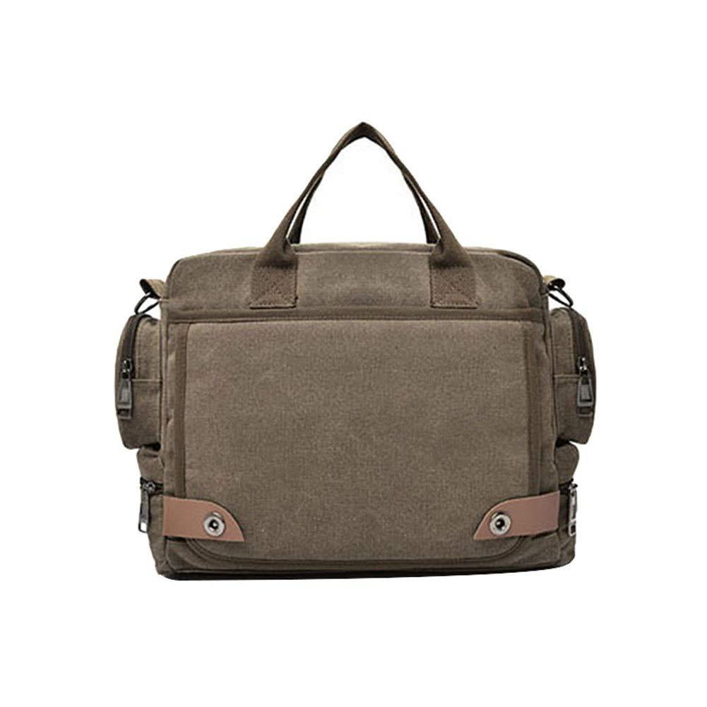 Fasmodel - Men Canvas Briefcase Laptop Suitcase Travel Handbag Business Messenger Bags Shoulder Bag