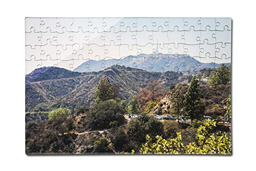 Mountain view with Hollywood Sign from the Griffith Observatory A-92271 (12x18 Premium Acrylic Puzzle, 130 Pieces) (Acrylic Beveled Award Diamond)