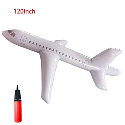 HONESFRIENWL Large Inflatable Airplane,Simulated Passenger Aircraft Model, Kid Cartoon Aircraft Toys,for Summer Kids Water Toy Yacht (120Inch): Home & Kitchen