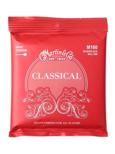 Martin M160 Silverplated Ball-End High Tension Nylon Classic Strings ()