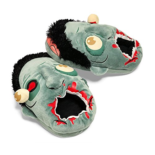 Funny Horrible Punk Zombie Plush Slippers Warm House Shoes Anti-slip Free size of 4~11