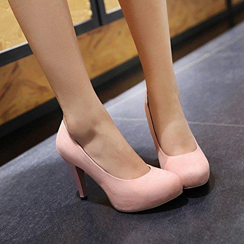 Carolbar Womens Date Party Sexy Chique Stilettos Hoge Hakken Kleding Schoenen Roze