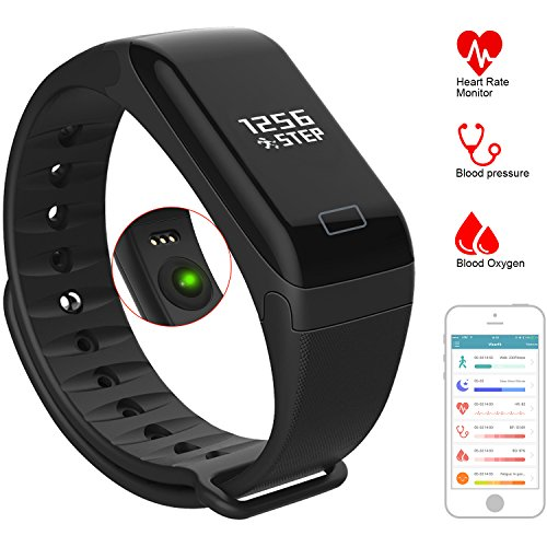Fitness Tracker Watch Activity Tracker with Heart Rate Monitor, Pedometer, Calorie, Health Tracker with Blood Pressure, Oxygen, Bluetooth Smart Bracelet Band for Android / IOS, IP67 Waterproof
