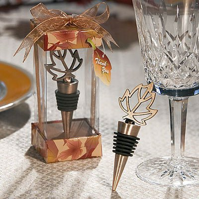 Autumn Themed Wine Bottle Stopper, - Bridal Collection Vineyard