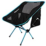 Lightweight Folding Camping Backpack Chair and Table,FBSPORT Compact & Heavy Duty Portable Chairs and Table For Hiking Picnic Beach Camp Backpacking Outdoor Festivals (Camping Chair_Lightblue)
