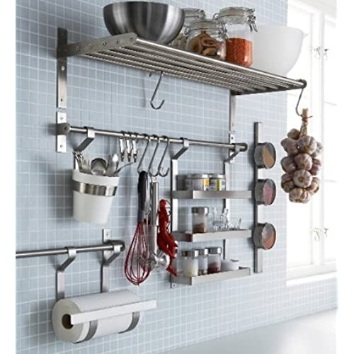 Kitchen Wall Accessories Stainless Steel: Ikea Pot Racks: Amazon.com