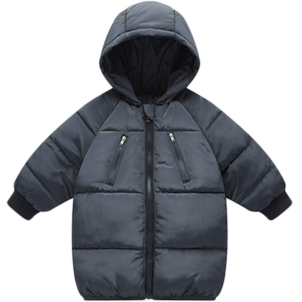 LANBAOSI Baby Boys Girls Winter Coat Toddler Kids Warm Hooded Jacket Outerwear