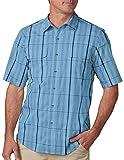 SCOTTeVEST Homestead Shirt - 6 Pockets, Short Sleeve Button Up Shirt, BLM XL