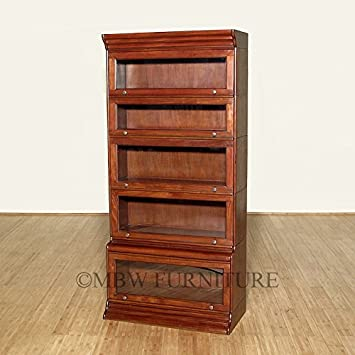 mahogany victorian stacked barrister bookcase curio plain glass c124 plain - Barrister Bookshelves