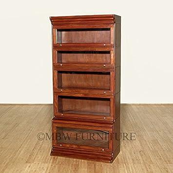 mahogany victorian stacked barrister bookcase curio plain glass c124plain