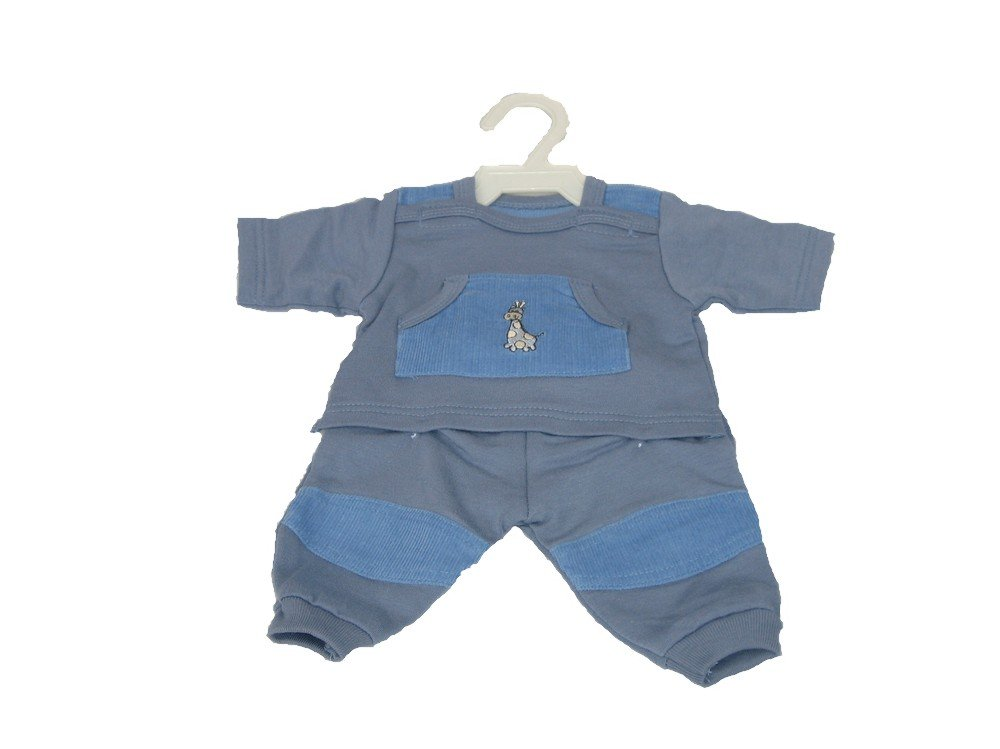 52c8e5e7d52d Boy Dolls Clothes - Blue Tracksuit Fits 16 inch to 18 inch Dolls (42 ...