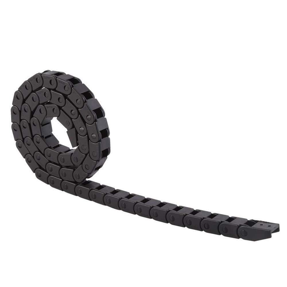 15x40mm Black Drag Chain Semi Closed Drag Chain Cable Carrier for CNC Router Mill