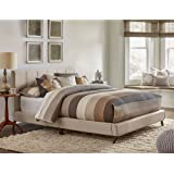 Hillsdale 1949BQR Upholstered Platform Bed, Queen, Fog