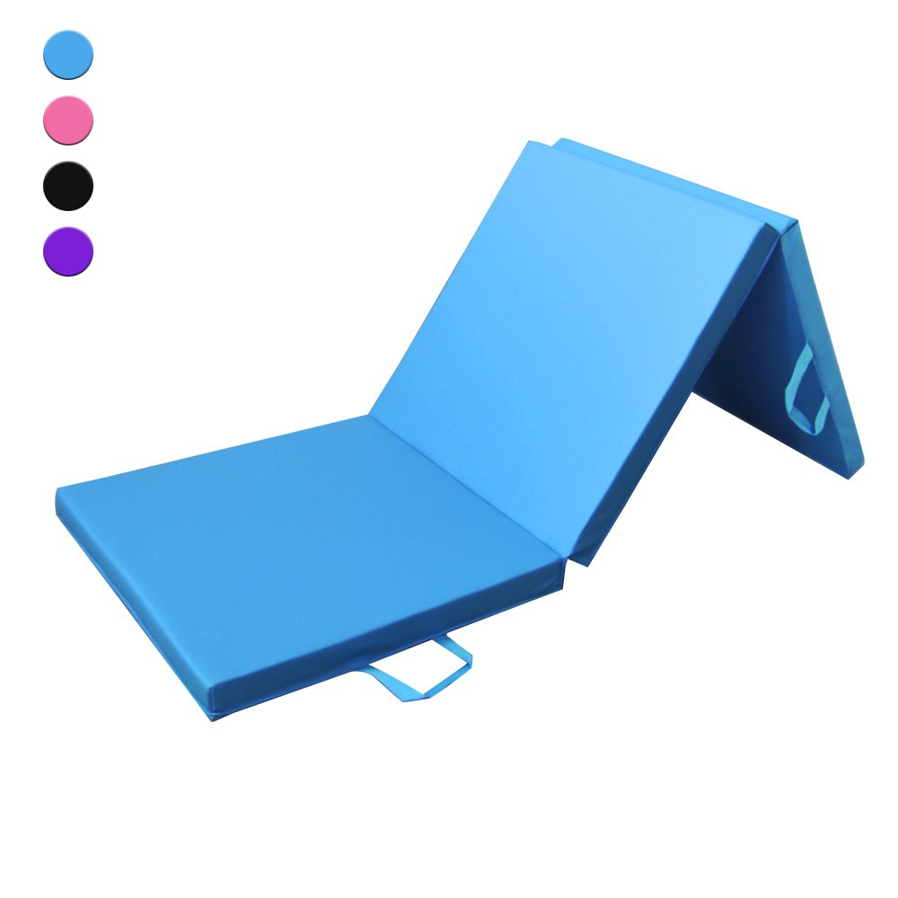 Prime Selection Products Colchoneta de espuma 180cm, triple plegable, para gimnasia, fitness,
