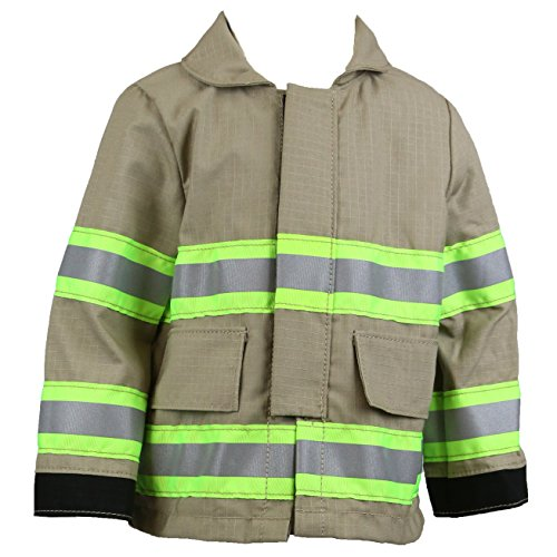 Fully Involved Stitching Personalized Firefighter Toddler TAN Jacket (ONLY)