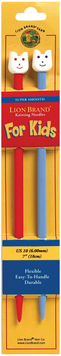 Lion Brand 7 Inch, Size 10 Knitting Needles for Kids Lion Brand Yarn 400-5-9002